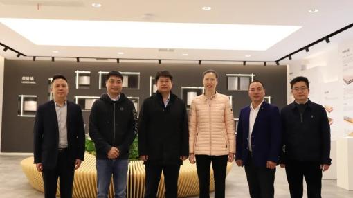 四川广安市领导、浙江省团委领导及湖州市南浔领导一行莅临世友总部,盛赞全健康地板